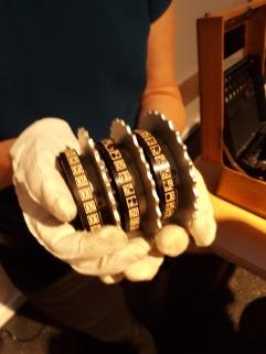 Enigma, Walze. Quelle: Foto Berthold Fritz. Sammlung des Deutschen Technik Museums in Berlin