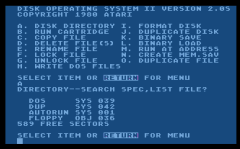 DUP.SYS Anzeige des Verzeichnisses der DOS System Disk.